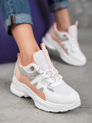 Jedinečné vícebarevné  tenisky dámské bez podpatku