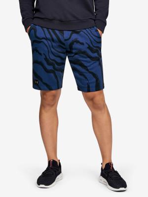 Kraťasy Under Armour Rival Fleece Printed Shorts Modrá