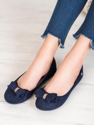 Trendy  baleríny modré dámské bez podpatku