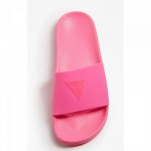 Plážové pantofle E02Z13BB00S-G6Q1 neonově růžová - Guess neonová růžová