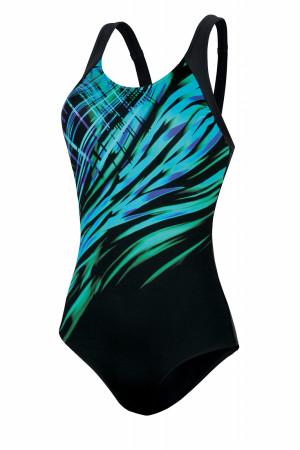 Jednodílné dámské plavky Self S 35 R1 černá XXL-44
