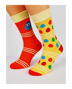 Pánské ponožky nepárové 7844 Avangarda -  Regina Socks žluto-oranžová 43-46