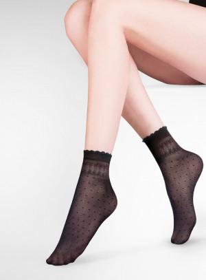 Tenké dámské ponožky PIA béžová uni velikost