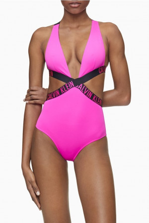 Jednodílné plavky KW0KW00979-TZ7 růžová - Calvin Klein růžová
