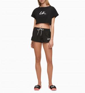 Plážový top KW0KW01006-BEH černá - Calvin Klein černá