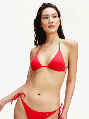 Vrchní díl dámských plavek UW0UW02069-XL7 červená - Tommy Hilfiger červená
