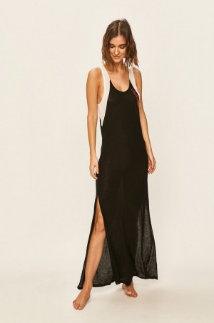 Šaty KW0KW01012-BEH černobílá - Calvin Klein černobílá