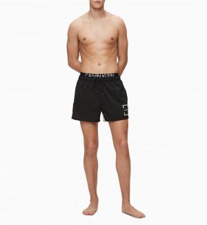 Pánské plavky KM0KM00436-BEH černá - Calvin Klein černá