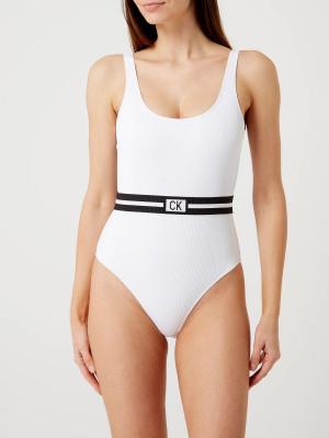 Jednodílné plavky KW0KW00985-YCD bílá - Calvin Klein bílá