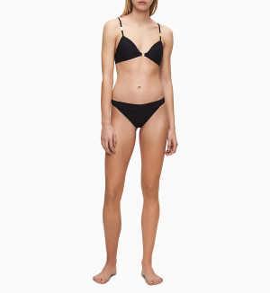 Spodní díl plavek KW0KW00954-BEH černá - Calvin Klein černá