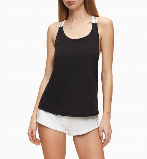 Plážový top KW0KW01002-BEH černá - Calvin Klein černá