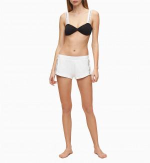 Dámské šortky KW0KW01004-YCD bílá - Calvin Klein bílá