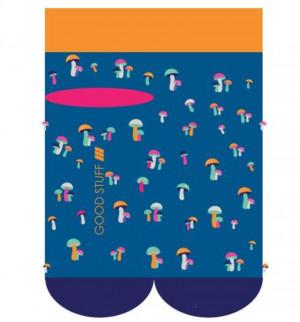 Ponožky SOXO GOOD STUFF - Hřiby modrá 35–40
