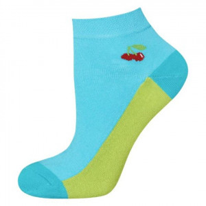Ponožky SOXO GOOD STUFF - Třešně modrá 35–40