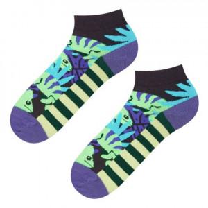 Ponožky SOXO GOOD STUFF - Chameleon fialová/zelená 40–45