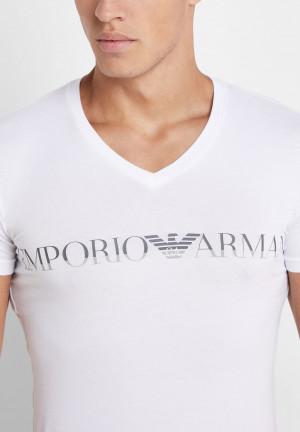 Pánské tričko 110810 9A516 00010 bílá - Emporio Armani bílá