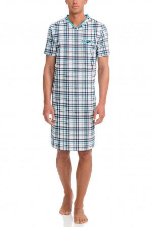 Pánská noční košile 12724-253 modrobílá - Vamp modro-bílá