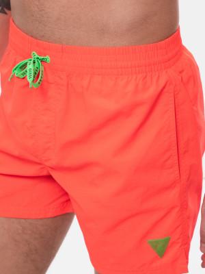 Pánské plavky F02T00TEL27-G334 oranžová - Guess oranžová