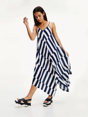 Plážové šaty UW0UW02157-0G3 modorbílá - Tommy Hilfiger modro-bílá