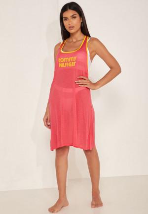 Plážové šaty UW0UW02150-TJN červená - Tommy Hilfiger červená