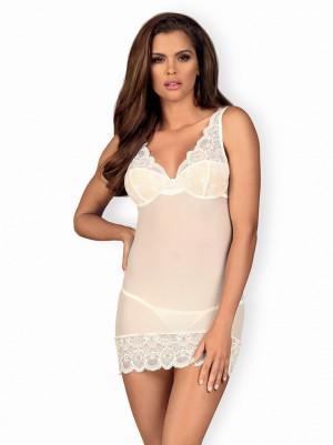 Jemná košilka 853 - CHE white - Obsessive bílá S/M