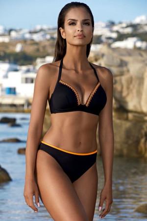 Dvoudílné push-up plavky Wendy černé