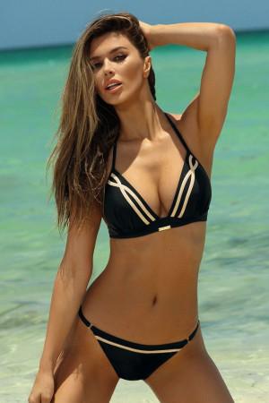 Dvoudílné push-up plavky Andrea černé
