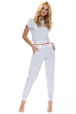 Dn-nightwear PM.9736 Dámské pyžamo L grey melange