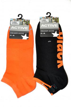 Pánské kotníkové ponožky WiK 16499 Active Sneaker Socks bílá 39-42