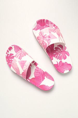 Plážové pantofle E02Z12BB00F-PU28 růžovobílá - Guess růžovo/bílá