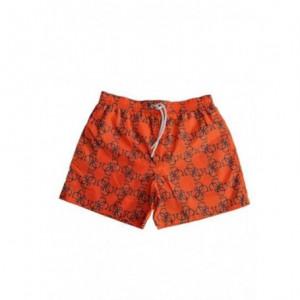 Pánské plavky F02T03TEL60- PZS5 oranžová - Guess oranžová