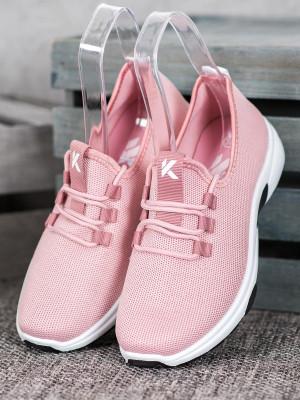 Trendy  tenisky dámské růžové bez podpatku