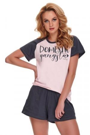 Dn-nightwear PM.9945 Dámské pyžamo XL pink