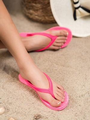 Módní dámské  nazouváky růžové bez podpatku