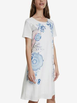 Šaty Desigual Vest Charlotte Bílá
