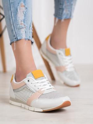 Krásné dámské bílé  tenisky bez podpatku