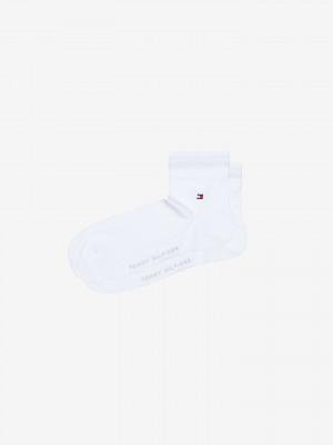 Ponožky 2 páry Tommy Hilfiger Bílá