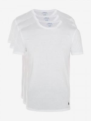 Spodní triko 3 ks Polo Ralph Lauren Bílá