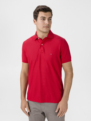Polo triko Tommy Hilfiger Červená