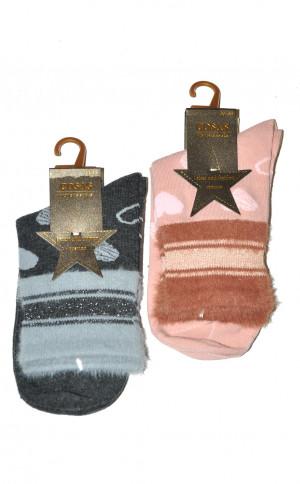 Ponožky Cosas LM-2/13 Srdce  černá 39-41