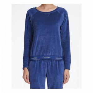 Dámská mikina QS6146E-6YN modrá  - Calvin Klein modrá