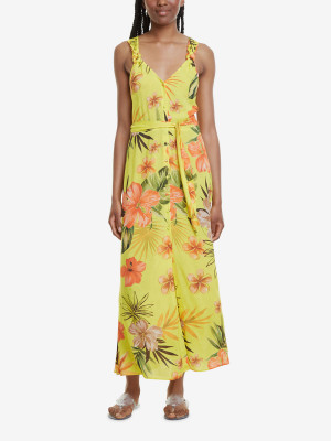 Šaty Desigual Vest Corcega Žlutá