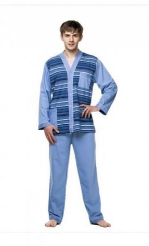 Kuba Dżentelmen rozepnuté Pánské pyžamo L-188/112/94-98 mix barva