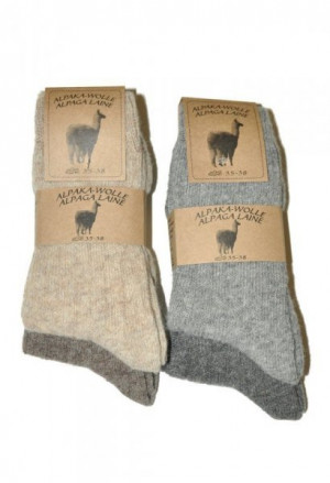 Ulpio Alpaka-Wolle 31606 A'2 Ponožky 43-46 mix barva