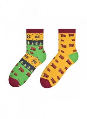 More 078 Damskie Nepárové Ponožky 39-42 červená