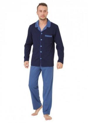 M-Max Norbert 826 plus Pánské pyžamo 3XL jeans-tmavě modrá