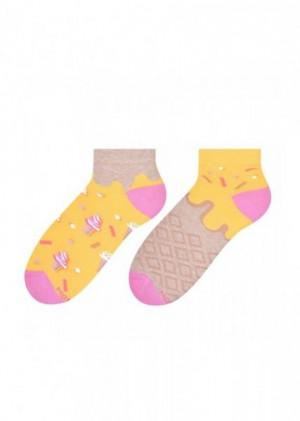 More 034 Dámské asymetrické ponožky 39-42 mátová