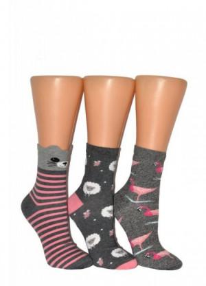Milena Vzorované Ponožky 37-41 mix barva-mix vzor