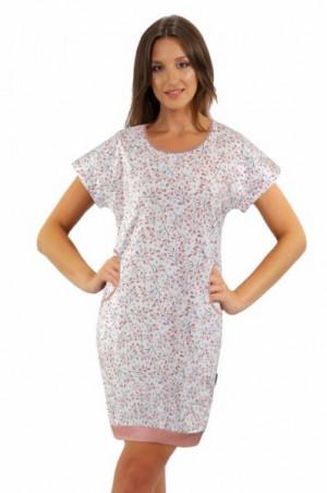 Sesto Senso Julia krátký rukáv bílá Noční košile XXL bílá/vzor