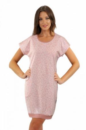 Sesto Senso Julia krátký rukáv růžová Noční košile XXL Růžová/vzor